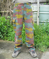 Belgian Army Jigsaw Camo Trousers Camouflage Multi Coloured Military Surplus