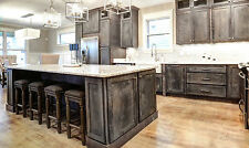 Rustic Shaker Grey Kitchen Cabinets-color sample-RTA-All wood, in stock