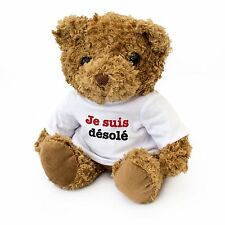 NEW - Je Suis Désolé Cute Teddy Bear - Gift To Say Sorry - Present Cadeau