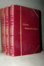 1892 uhlands opere raccolte in sei volumi 3 libri colla Ludwig Uhland antico