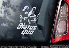 Status Quo - Car Window Sticker - UK English Rock Band Decal Sign Art Vinyl -V02