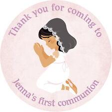 24 personnalisé 1ST sainte communion, baptême, confirmation, autocollants, étiquettes