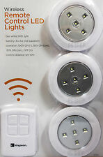 3pc Wireless Remote Control Led Smd Luce Riflettore a batteria con telecomando