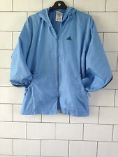 WOMENS URBAN VINTAGE RETRO LIGHT BLUE ADIDAS HOODED OUTDOOR JACKET UK MEDIUM
