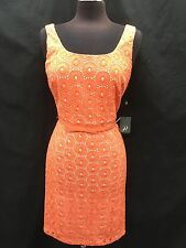 ADRIANNA PAPELL DRESS/COTTON/RETAIL$129/SIZE 16/LINED/NEW WITH TAG