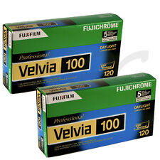 10 Rolls Fuji 120 RVP Fujichrome Velvia 100 Pro Color Slide Film - FRESH DATED