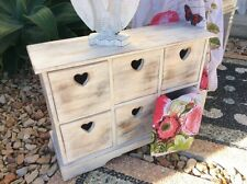 Bali- Balinese - White wash heart cupboard - shabby chic - country style draws