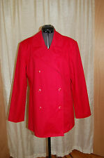 Brooks Brothers Red Cotton/Spandex Double Breasted Jacket Coat Size S
