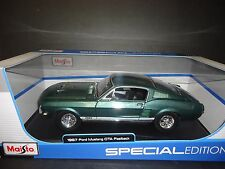 Maisto Ford Mustang GTA Fastback 1967 Green 1/18