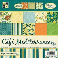 "DCWV Paper stack 8""x 8"" CAFE MEDITERRANEAN 48 sheets"