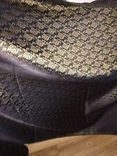 "5 MTR (NEW) BLACK/GOLD BROCADE FABRIC...45"" WIDE £19.99 SPECIAL OFFER"