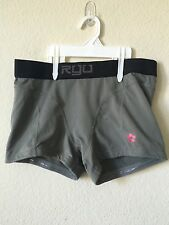 RYU Gray Black Performance Compression Atheletics MMA Slip Grip Shorts, Size M