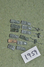 6mm ww2 12 vehicles & 3 guns (1959) metal painted