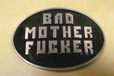 BAD MOTHER FUCKER PULP FICTION ENAMEL BELT BUCKLE - TAKES 4CM WIDE BELT