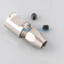"5mm un-threaded to 3/16"" 4.76mm stainless steel collet coupler shaft for RC Boat"