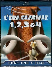 4 Blu-ray Box Cofanetto «L'ERA GLACIALE 1 + 2 + 3 + 4» quadrilogia 4 film nuovo