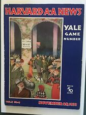 """1933 Harvard v Yale Football Game Best Cover In This Series-famous lost""""Bulldog"""""""