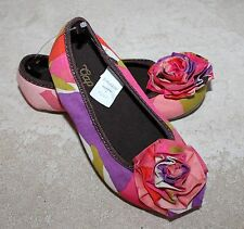 NEW BABY GAP Girl Shoes Portobello Rd Collection Floral Rose Ballet Flats Sz. 8