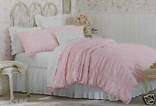 Simply Shabby Chic Pink Ruched Duvet Cover Shams Set ~ NEW Twin