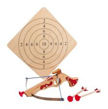 Wooden Toy Crossbow Archery Set Includes Target & Sucker Bolt Darts 5036