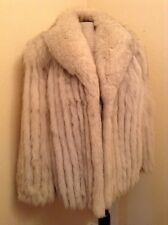 Absolutely Gorgeous Vintage Norwegian Blue Fox Fur Coat, Women's Med (sz 12)