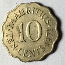 1971 Mauritius 10 cents   coin high grade!