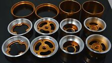 "Vintage 1.5"" Aluminum Wheel 3 Pieces For Team Associated RC10 Gold-Dhawk Racing"