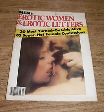 Vintage 1980 Men's Erotic Women Magazine Hairy Bush Lesbian Stockings Public Sex