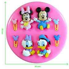 Disney Babies Mickey Mouse & friends Silicone Mould by Fairie Blessings