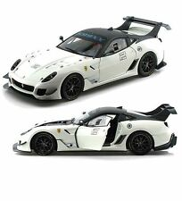 1:18 HOT WHEELS ELITE-RACING FERRARI 599xx EVO WHITE #2