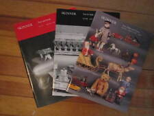 Lot of 3 Skinner Auction Catalogs Toys Dolls Model Trains 1994-1995