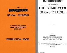 Beardmore 1925 - The Beardmore 30 Cwt. Chassis Instruction Book