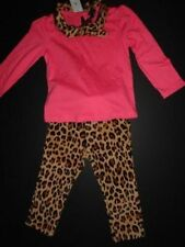 NWT Gap 2T/2 Years Bryant Park Mock Neck Bow Top+Leopard Corduroy Leggings Jeggi
