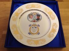 Aynsley Plate Commemorating Marriage Between Princess Anne & Mark Philips Boxed