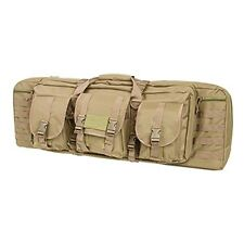 NcSTAR 36 in. Double Carbine Padded Carrying Case w/ Modular MOLLE Webbing Tan