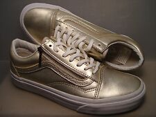 VANS New Old Skool Zip Metallic Leather Vault Lady size USA 7