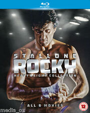 Rocky: The Heavyweight Collection 1 2 3 4 5 & 6 Saga Box Set | New | Blu-ray