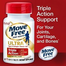Schiff Move Free Ultra Triple Action, 75 Tablets,new!