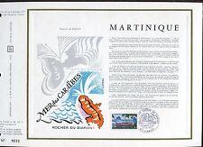 DOCUMENT CEF PREMIER JOUR  1970  TIMBRE N° 1644 ROCHER DU DIAMENT MARTINIQUE