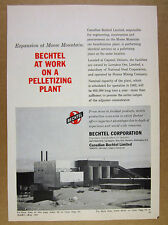 1963 Moose Mountain Ore Plant Capreol Ontario photo Bechtel vintage print Ad