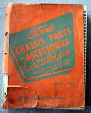 HUGE 1949 FORD MOTOR COMPANY Chassis Parts Accessories CATALOGUE Car CATALOG