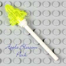 NEW Lego Minifig STAFF WEAPON - Movie Tool w/Trans Neon Green-Yellow Moon Stone