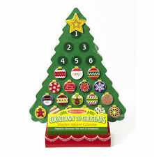 Melissa and Doug Countdown to Christmas Wooden Advent Calendar #3571 NEW