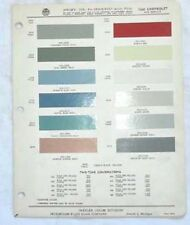 1960 CHEVROLET PPG COLOR PAINT CHIP CHART ALL MODELS
