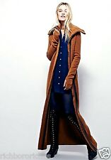 NWT Free People Nicholas K brown spice Athena Maxi Sweater Coat stretch S $946