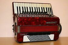 Weltmeister Stella 96 Bass Vintage LMMH Accordion Akkordeon Fisarmonica Red