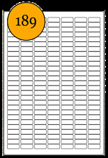 Tiny blank A4 Label sheets. 3780 labels. 25.4x10mm. L6008 white stickers