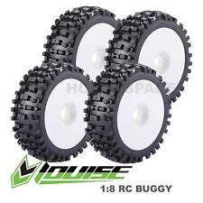 LOUISE RC 1/8 BUGGY BULLDOZE SUPER OFFROAD TYRES WHEELS X 4 HOBAO HPI KYOSHO