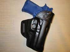 BERETTA 92 compact with rail  formed leather,owb belt holster