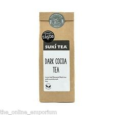 80g SUKI DARK COCOA LOOSE LEAF BLACK TEA - GREAT TASTE WINNER - CHOCOLATE TEA